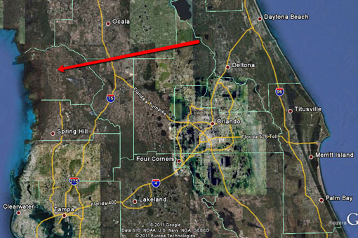 Orlando Florida Map Google.Aerial Views The Waterfront Home In Floral City Citrus County