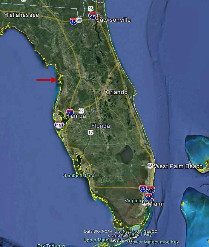 Citrus County Florida Map.Aerial Views Of The Inverness Waterfront Estate Home For Sale On