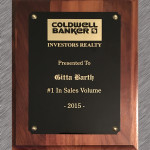 Coldwell Banker Gitta Barth Award No 1 in Real Estate Sales Volume 20145