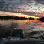 Crystal River Boat at Sunset