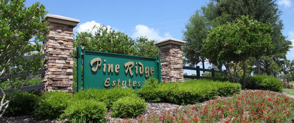 Pine Ridge Estate Sign