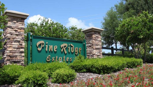 Pine Ridge Estate Sign