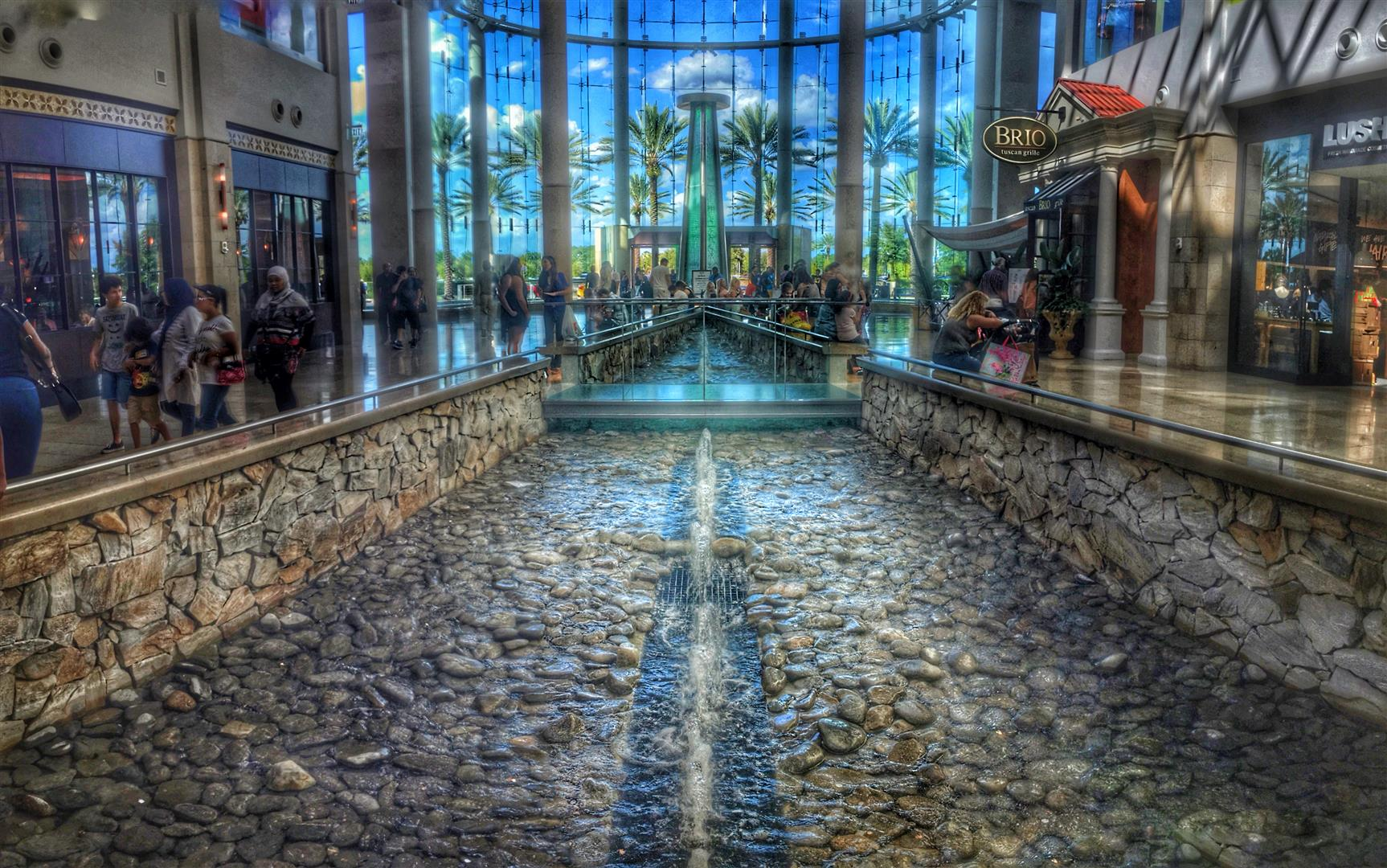 Water Feature at Millenia Mall Orlando, FL