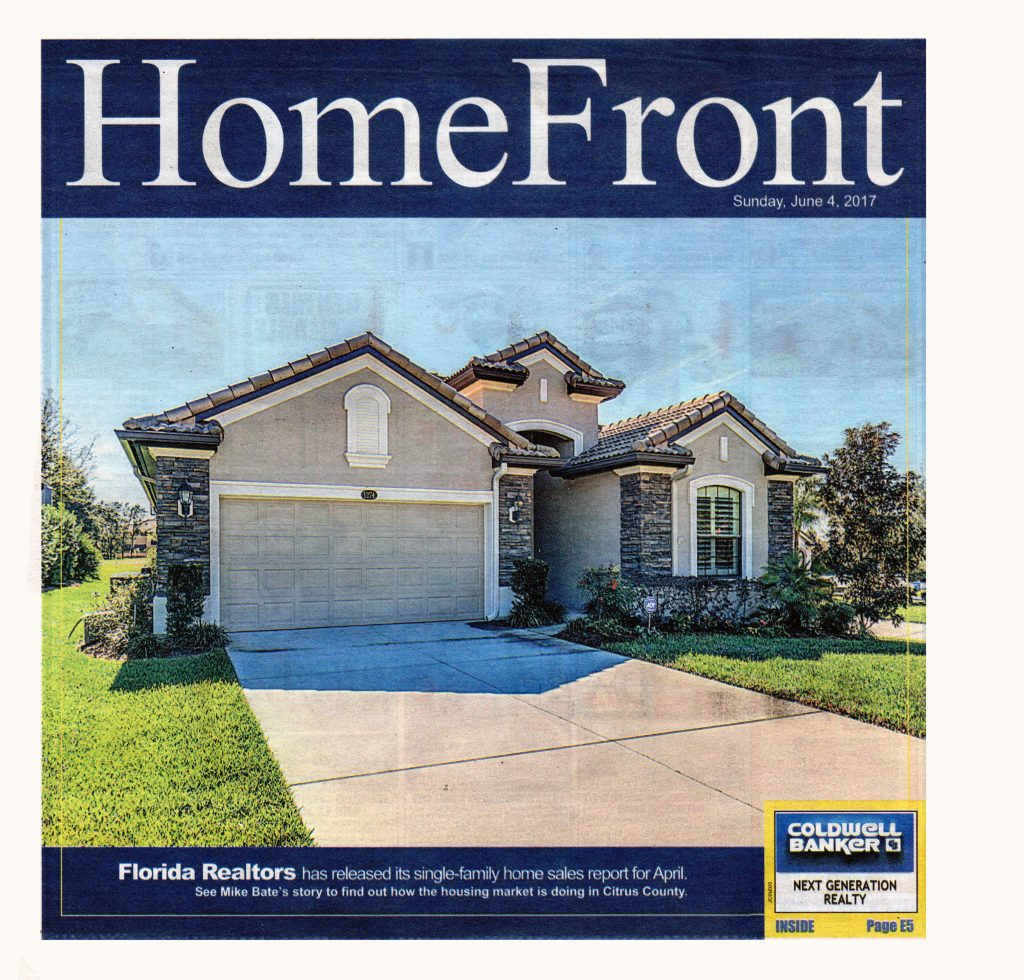 New Homes for Sale: Advertisement in the June 04, 2017 Homefront of the Citrus County Chronicle