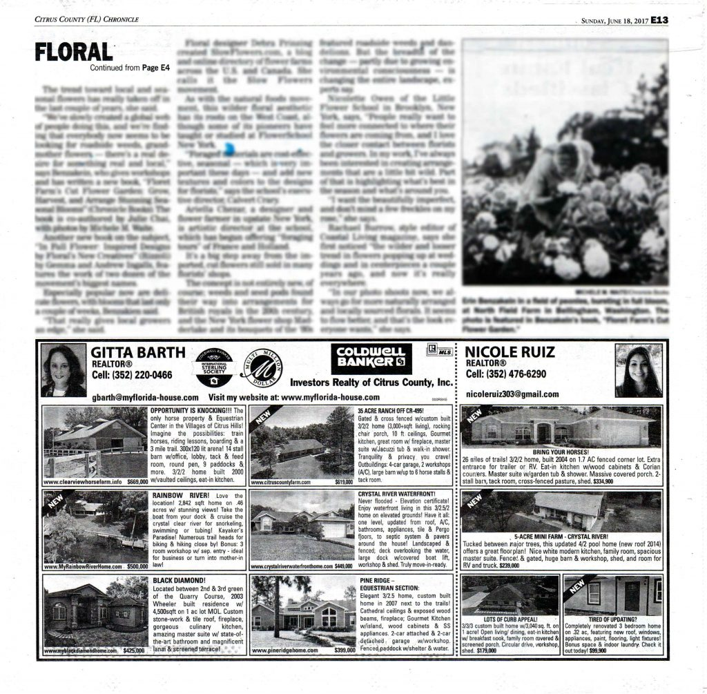 New Homes for Sale June 18: Advertisement in the June 18, 2017, inset Home Front of the Citrus County Chronicle