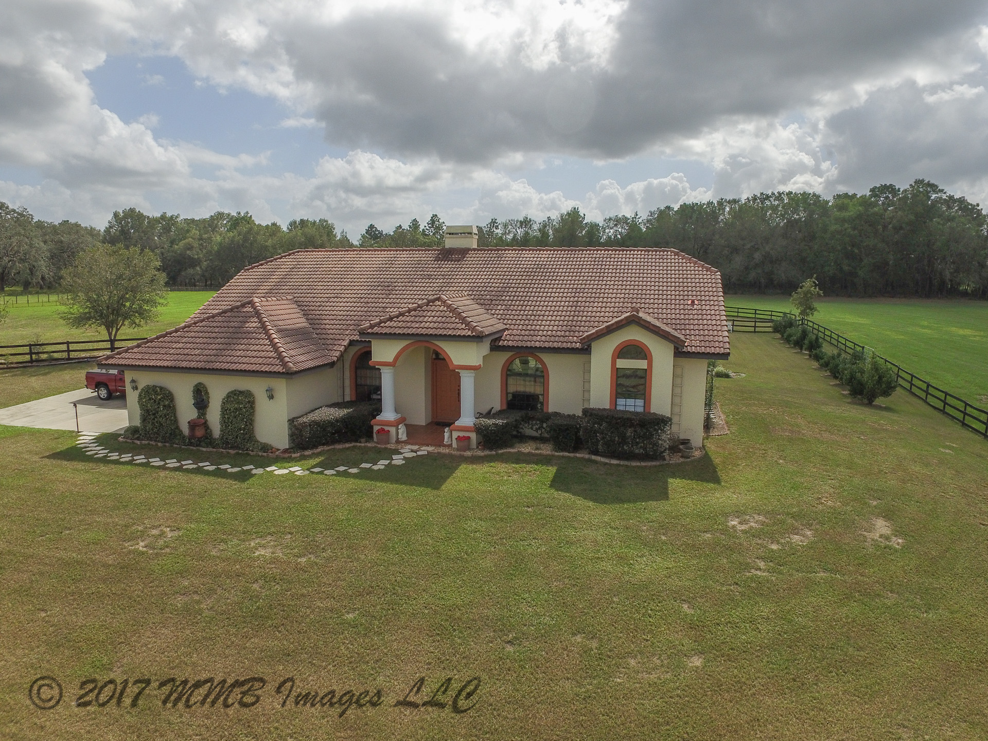 Aerial Photo of the Ranch Estate for Sale in Floral City in Citrus County