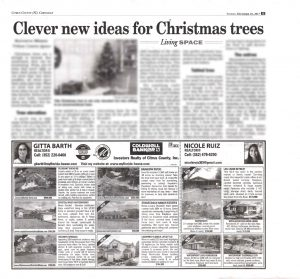 My property / real estate for sale listings advertised in the Homefront insert in the Citrus County Chronicle Dec 12. 2017