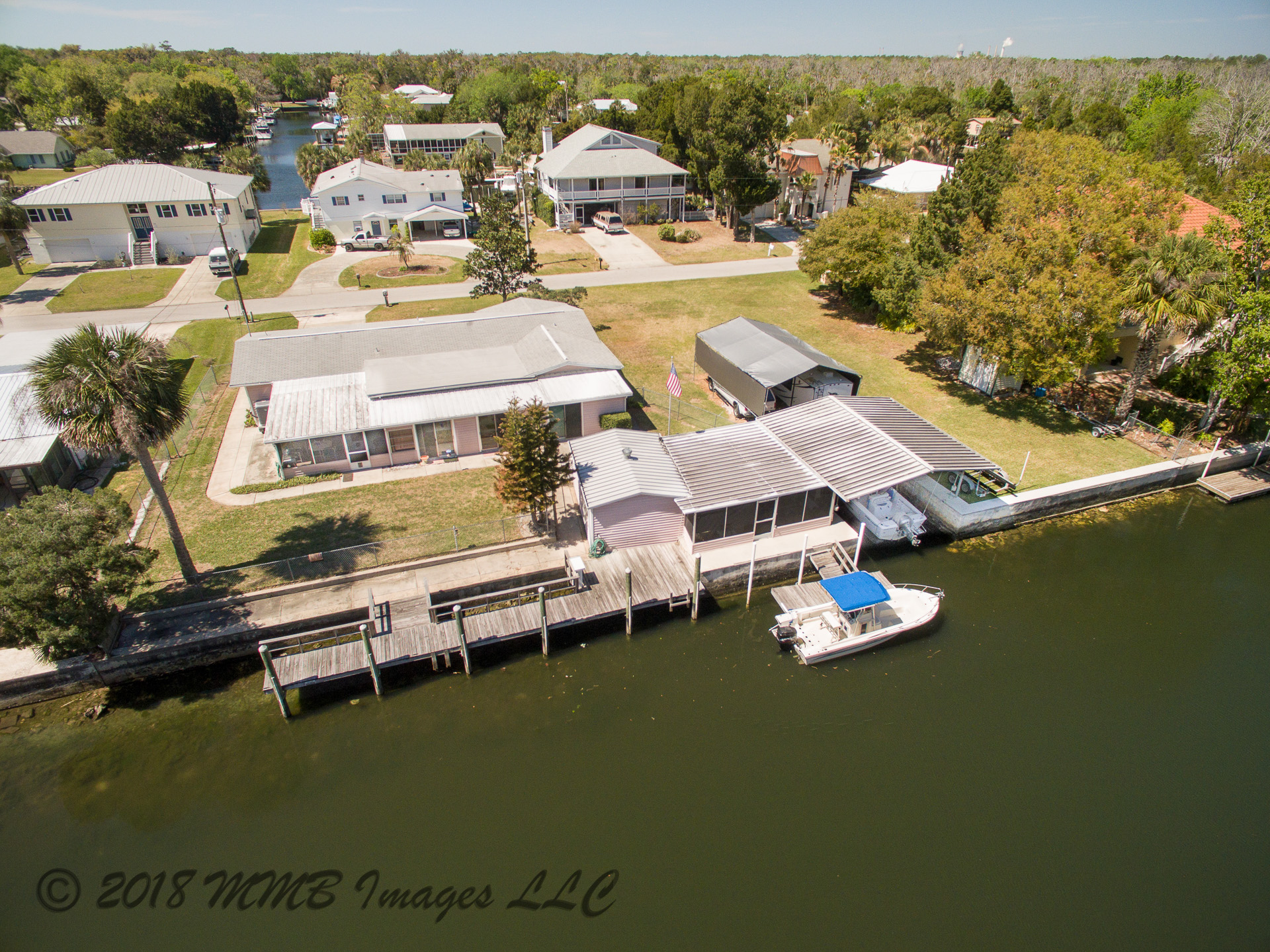 Aerial Photo of the Waterfront Home and Real Estate for Sale in Citrus County